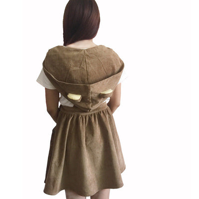 Cute Cosplay Costumes Rilakkuma Brown Bear Suspender Overalls Skirt Lolita Dress