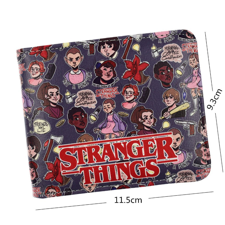 FVIP Stranger Things Wallet Cartoon Bifold ID Credit Card Holder Coin Purse