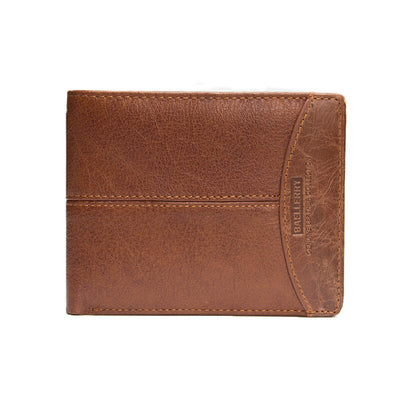 Fashion Genuine Leather Men Wallets Short Wallet With Coin Pocket Designer Vintage Purse Card Holder Men