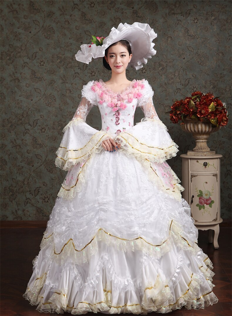 PP Medieval Renaissance Queen Princess Victorian Costume Edwardian Victorian Dress Halloween Cosplay Costume