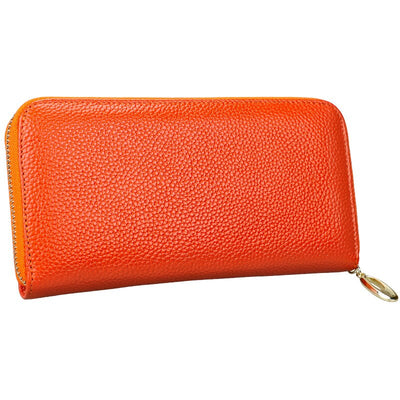 Genuine Leather Wallet RFID Blocking Wallets Big Capacity Travel Zipper Women's Purse Ladies Long Phone Purses