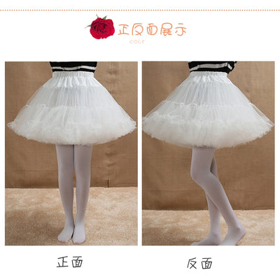 Lolita Dress White Underskirt Women White Short Underwear Dress Ball Gown Bublble Skirt Petticoat