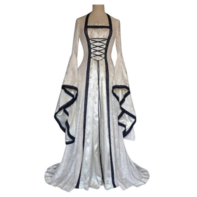 Gothic Medieval Dress Cosplay Carnival Halloween Costume Retro Vestidos Court Long Robe Noble Princess Palace Party