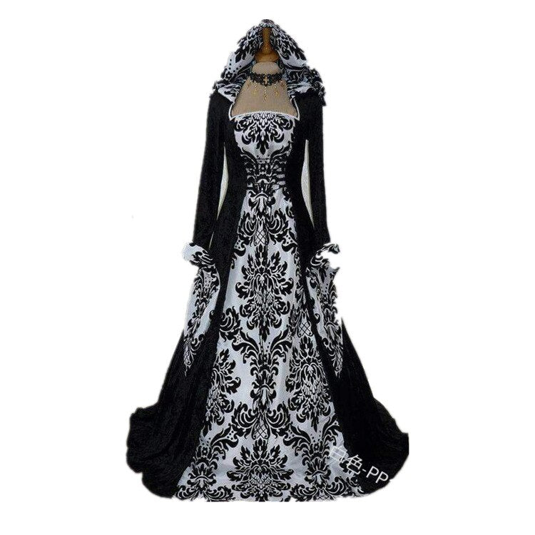 Ladies Gothic Vampire Costume Adults Creepy Mother Fancy Dress Halloween Outfit