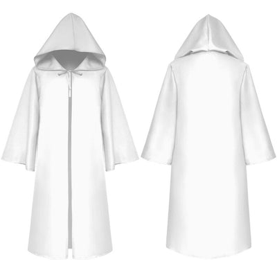 Halloween Death Wizard Cloak Cosplay Costume Monk Hooded Robes Cloak Cape Friar Medieval Renaissance Priest Kids Adult