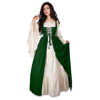 Halloween Fashion Dresses Oktoberfest Beer Costume Maid Wench Germany Bavarian Plus Size 5XL Medieval Dress Costume Dirndl