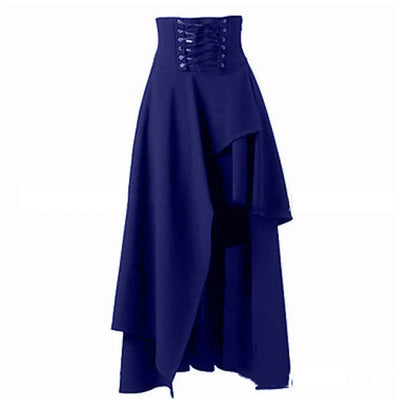 Lolita Style Women Vintage Medieval Skirt Bandage Renaissance Gothic Masquerade Party Wear Costumes Pirate Draped Skirt
