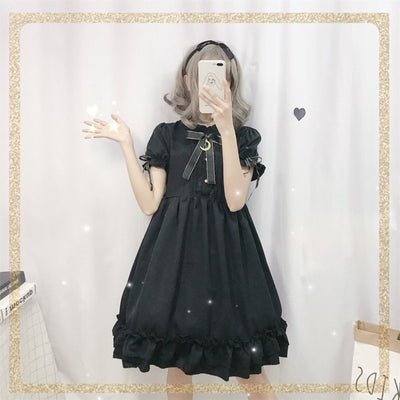 Lolita Dress Soft Sister Wind Retro Dark Cute Bow Moon Lolita Skirt Ruffled Cute