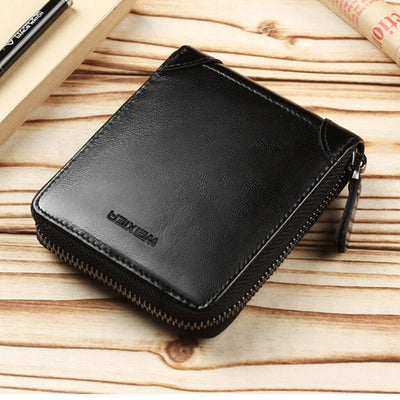 Men Bags Zippers Solid Male Wallets Standard Square Interior Slot Pocket Short Business Fashion Carteras Sac A Main Femme