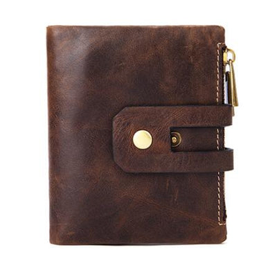 Muurdde Genuine Leather Women Wallet Short Wallets Double Zipper Coin Purse Small ID Card Holder Money Bag Portomonee