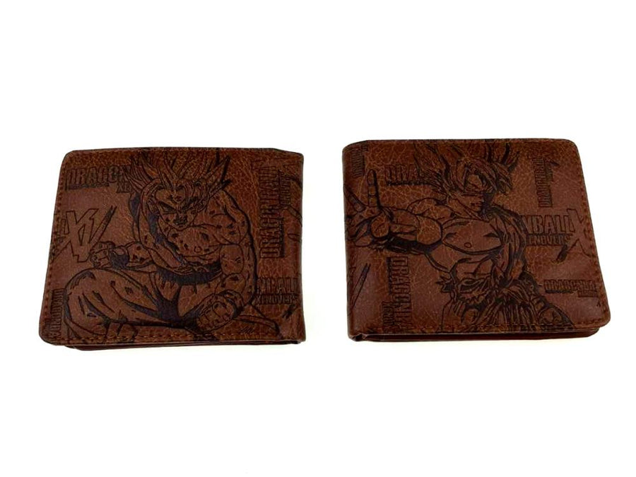 Anime Dragon Ball Z Bifold Wallet Leather PU Coin Purse DBZ Son Goku Super Saiyan Kakarotto Men Short Wallets Card Holder
