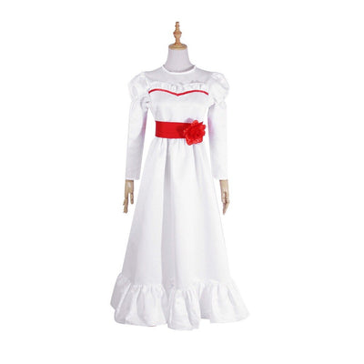 The Conjuring Doll Annabelle Creation Long Fancy Renaissance Medieval Dress Halloween Costume Cosplay Suit Horror Film Gifts