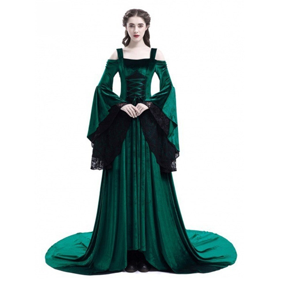 Plus Size Cosplay Halloween Dress Medieval Palace Princess Dress Adults  Women Gothic Queen P Party Halloween Costumes