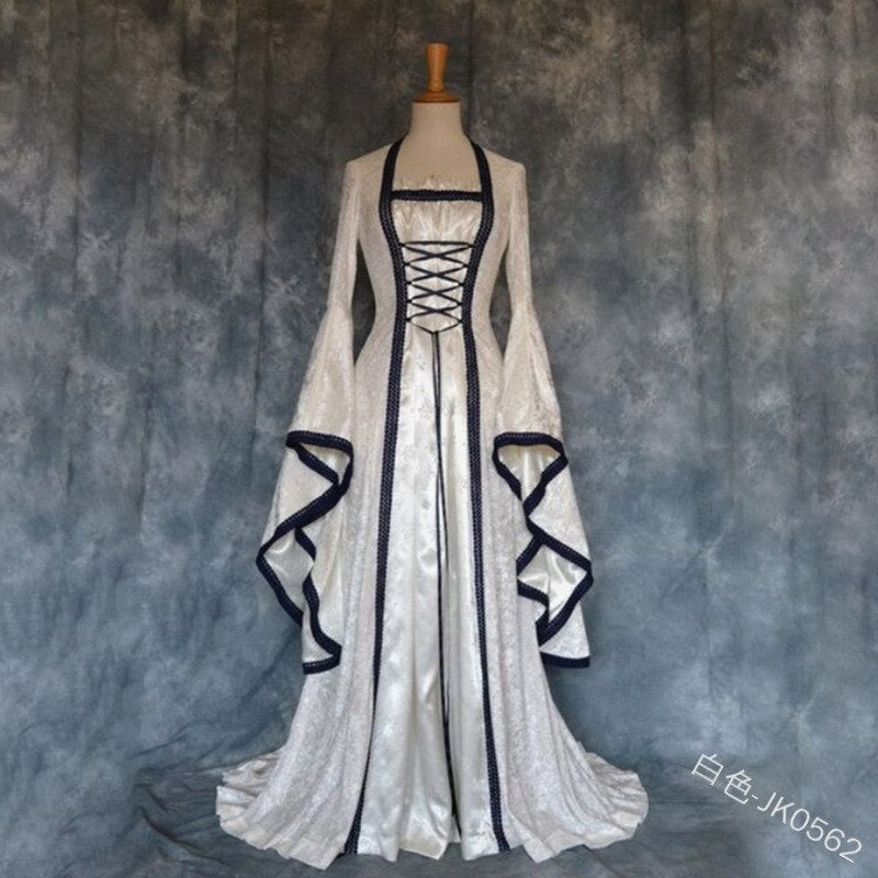 Plus Size 5XL Women Costume Medieval Maiden Fancy Cosplay Over Dress Halloween Costumes Victorian Vampire Dress Costum