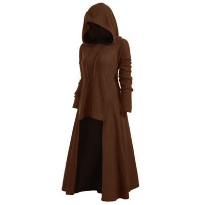 S5XL Hooded Dress Middle Ages Renaissance Halloween Hunter Archer Cosplay Costumes Vintage Medieval Carnival Party Vestido