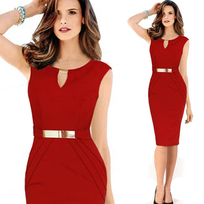 Spring Summer 3XL Plus Size Red Black Party Evening Bodycon Dress Women Casual Robe Pencil Sleeveless Christmas Ladies Dresses
