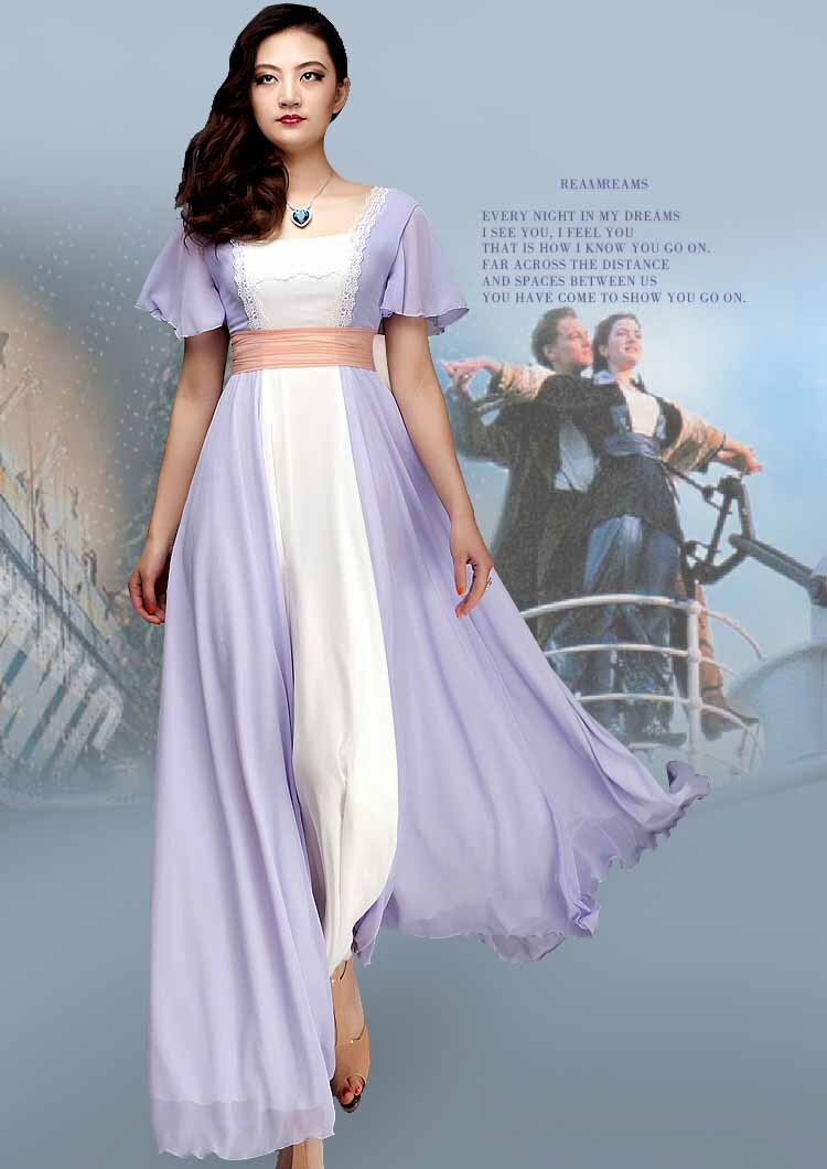 Titanic Rose Cosplay White Maiden Costume Dress Custom Tailed in Any size