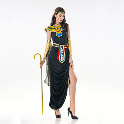 VASHEJIANG Medieval Egyptian Cleopatra Costume Queen Of Nile Cosplay Ladies's Women Halloween Costumes Fancy Dress