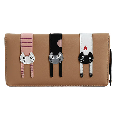 Women Wallet Cat Cartoon Wallet Long Creative Card Holder PU Wallet Coin Purses Leather Wallet Fashion Envelope