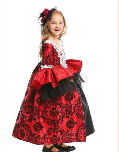 Costume Medieval Fancy Cosplay Party Prom Dress Halloween Costumes Kids Princess Victorian Dress Costume Birthday Gift