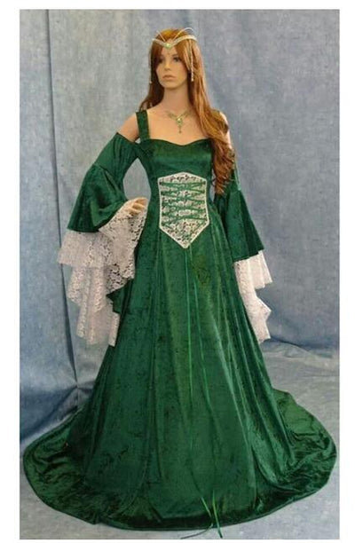 Pleuche Medieval Dress Costume Women Renaissance Cosplay Party Costume Velvet Palace Ball Gown Tail Dress Vestido Plus Size 5xl