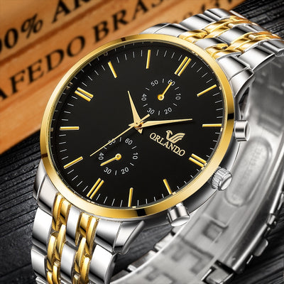 Mens Watches Top Brand Luxury Clock Stainless Steel Men's Watch Men Watch Fashion Business Watch reloj hombre relogio masculino