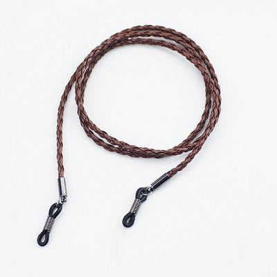 1Pc 4 Colors New Leather Eyeglass Cord Adjustable End Glasses Holder Colorful Leather Glasses Neck Strap String Rope Band