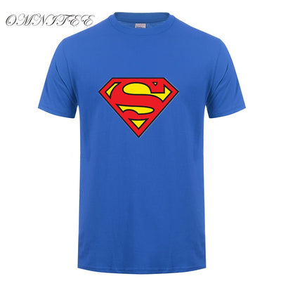 New Fashion Superman T Shirt Summer Style Men Short Sleeve Cotton Casual T-shirt Superhero Top Tees free shipping