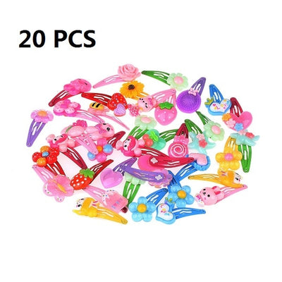 1/5/10/20 PCS Wholesale Mix Color Styles Flower Cartoon Assorted Lovely Kids Girls Woman HairPin Clips Hair Accessories Jewelry