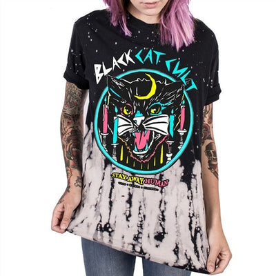 Raisevern New ANTI-SOCIAL 3D Printing T Shirt GOTH GANG Harajuku Punk T-Shirt Summer Style Clothing Tops Plus Size Dropship