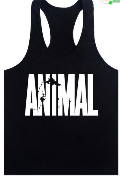 Gym golds fitness vest animla singlet canotte bodybuilding stringer tank men running T shirt muscle guys sleeveless undershirt
