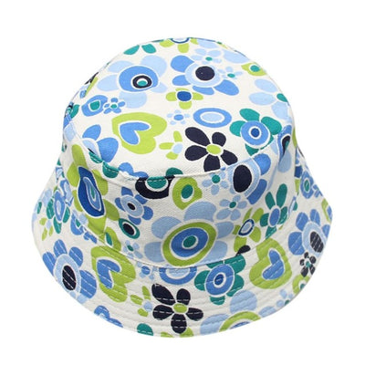 2018 new arrival Toddler Baby Kids Boys Girls Floral Pattern Bucket Hats Sun Helmet  Cap Fisherman Hat HOT SALE Amazing May 2