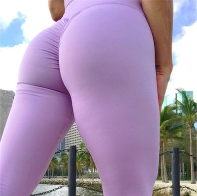 12 Colour Ruched Yoga Pant Leggings Sexy Harajuku Push Up Leggins Sport Women Fitness High Waist Elastic Tights Sportswear Hot