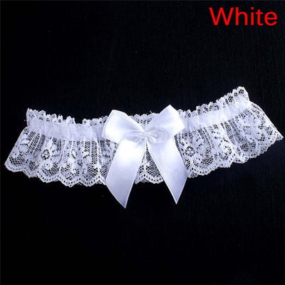 Women Girls Lace Floral Bridal Lingerie Bowknot Wedding Party Cosplay Leg Garter Belt Suspender 1pcs