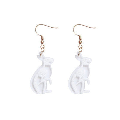 New Creative Transparent Animal Skeleton Drop Earring Mouse Rabbit Penguin Bird Pig Cat Acrylic Earrings For Women Party Jewelry