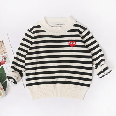 2019 Children Sweatershirt Striped Kids Boys Sweaters Casual Girl Knitwear Cute Sweater for Girls Kids Pullover for 1-5T