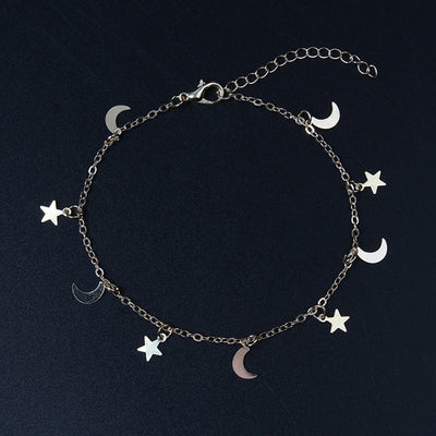 2019 New arrival Gold silver Moon Star Charms bracelet for Women Fashion Accessories Bracelets & Bangles free shipping