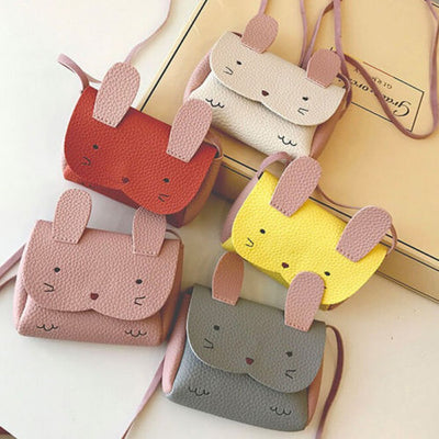 2019 New Rabbit Plush Backpack Kid Girls Children Cute Rabbit mini small Wallet Coin Shoulder Messenger Bag