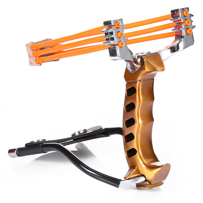 Compact Powerful Folding Wrist Brace Support Shot Alloy Slingshot Outdoor Hunt Competition Hike Bow Catapult Hunting Tool