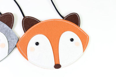 Cute Baby Girl Fox Plush Backpack Cartoon Handbag Crossbody Clutch Purse  Messenger Storage Single Shoulder Bag
