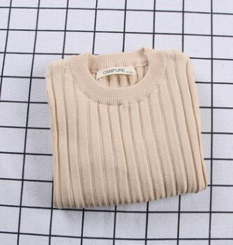 Girls Sweaters Solid Candy Color Boys Sweaters Spring New Knitted Baby Girls Ribbed Sweater Kids Clothing Girls Pullover