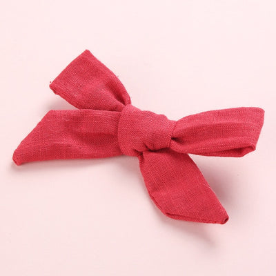 1pc Handmade Baby Girls Knot Bows Hairpins Newborn Fabric Bows Hair Clips Head Wear For Gilrs Infant Toddlers Hair Accessories