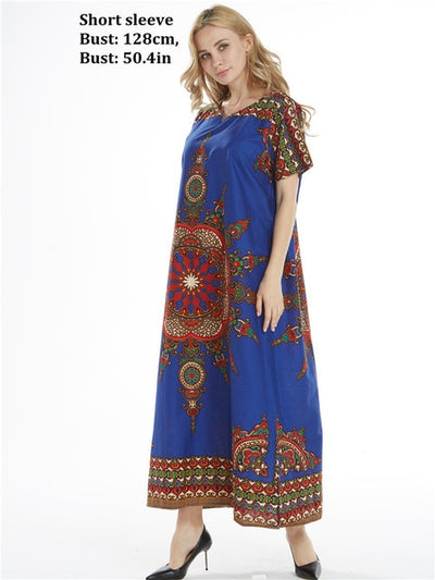 Dashikiage New Arrival Women's 100% Cotton African Print Dashiki Stunning elegant African Ladies Dress