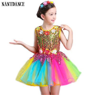 Girls Ballet Dress For Children Girl Dance Dress Kids Sequins Ballet Costumes For Girls Tutu Dance Girl Stage Dancewear For Boy
