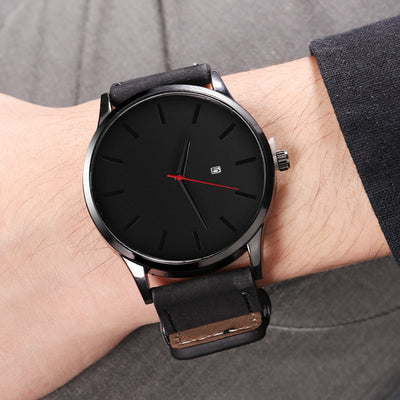 erkek kol saati Fashion Sport Watch Men Watch Leather Men's Watch Men Calendar Watches Male Clock reloj hombre relogio masculino