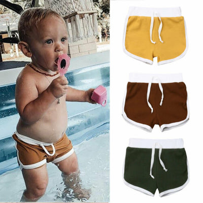 1-4Years Toddler Short Infant Baby Boy Kid Knitted Pits Casual Pure Pants Summer Children Beach Short Clothes