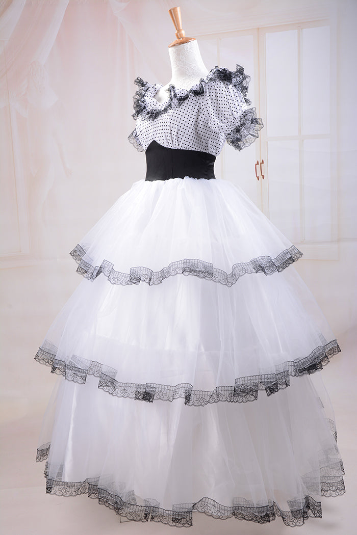 Southern Belle Costume Victorian Dress Costume Adult Halloween Costumes White Civil War Gown Ball Lolita Dress Custom