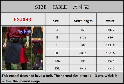 Warrior Battle Suit Roman Horseman Dress Up Costume Mens Medieval Costume Viking Pirate Bottom Skirt Pants Cosplay Costume