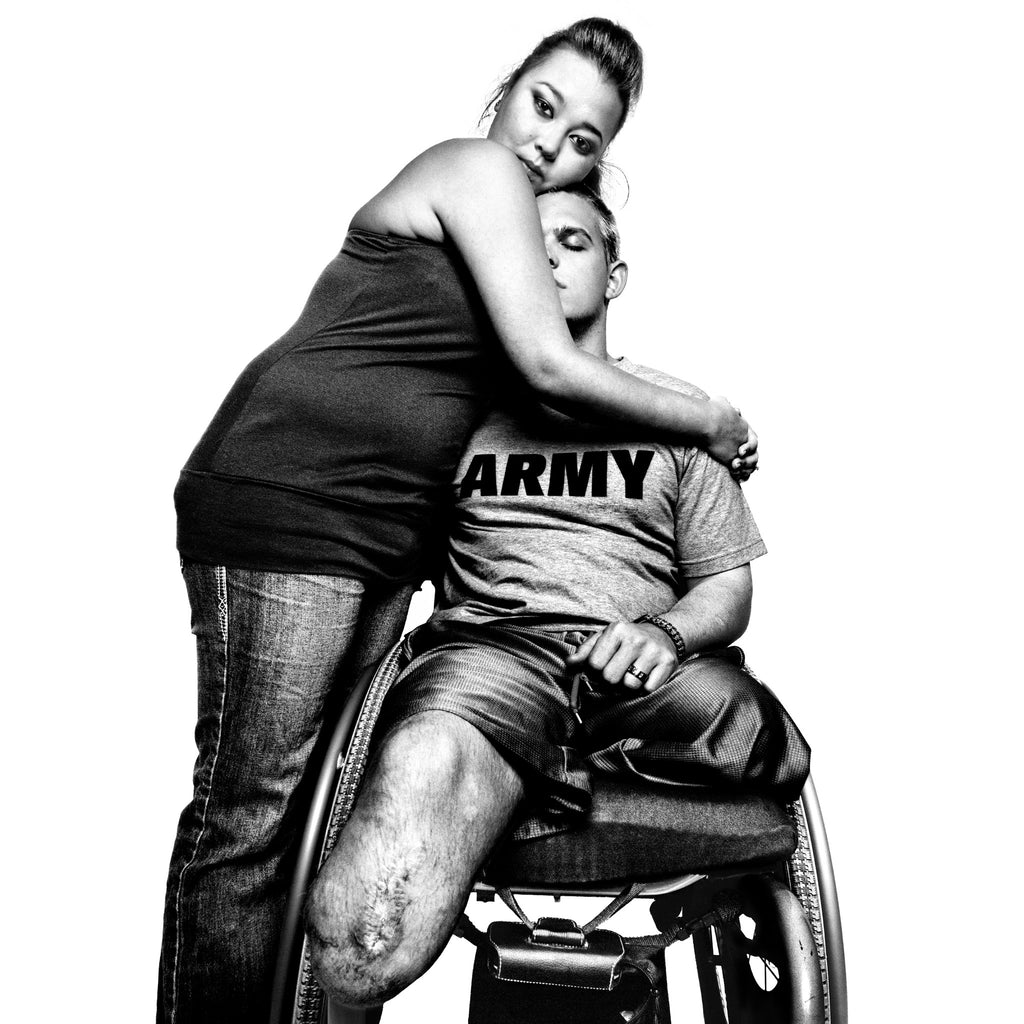 SERVICE: Sergeant Tim Johannsen & his wife, Jacquelyne Kay. Walter Reed Army Medical Center, D.C., 2008.