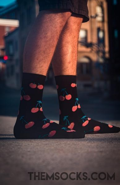 Cherry Patterned Socks - Themsocks